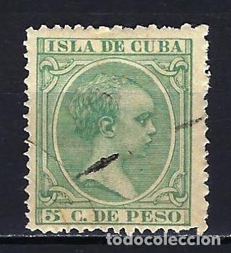 1890 ESPAÑA - COLONIAS - CUBA EDIFIL 127 ALFONSO XIII TIPO 'PELÓN' USADO (Sellos - España - Colonias Españolas y Dependencias - América - Cuba)