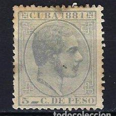 Sellos: 1881 ESPAÑA - COLONIAS - CUBA EDIFIL 65 ALFONSO XII MG* NUEVO SIN GOMA CON FIJASELLOS -OXIDO. Lote 206140056