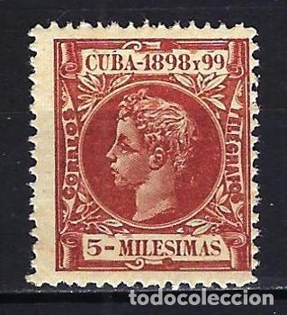 1898 ESPAÑA - COLONIAS - CUBA EDIFIL 158 ALFONSO XIII MNH** NUEVO SIN FIJASELLOS (Sellos - España - Colonias Españolas y Dependencias - América - Cuba)