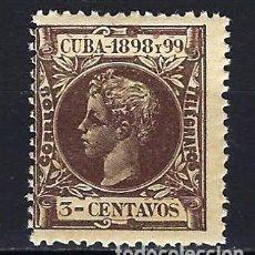 Sellos: 1898 ESPAÑA - COLONIAS -CUBA EDIFIL 161 ALFONSO XIII MLH* NUEVO CON GOMA LIGERA SEÑAL DE FIJASELLOS. Lote 206140547