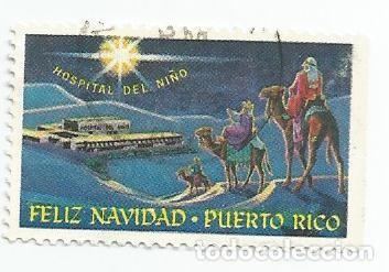 SELLOS USADO DE PUERTO RICO- FELIZ NAVIDAD- HOSPITAL DEL NIÑO (Sellos - España - Colonias Españolas y Dependencias - América - Puerto Rico)