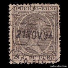 Sellos: PUERTO RICO.1894.ALFONSO XIII.3C.USADO.EDIFIL 108. Lote 207355501