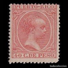 Sellos: PUERTO RICO.1896-97.ALFONSO XIII.40C.NUEVO*.EDIFIL 128. Lote 207355940