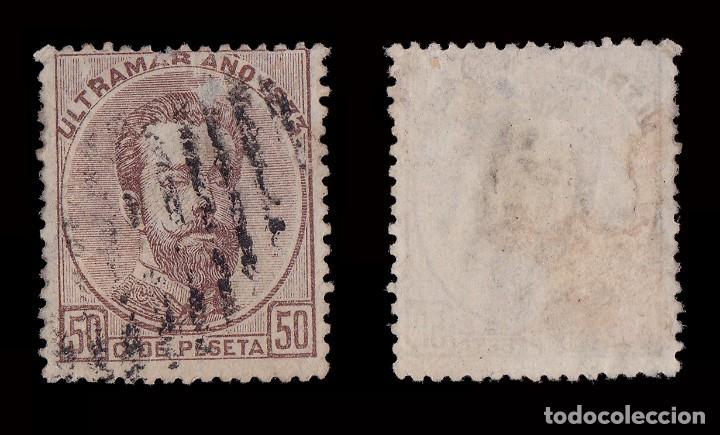 Sellos: ANTILLAS.1873 Amadeo I.50c.castaño.Usado.Edifil.26 - Foto 2 - 207374656