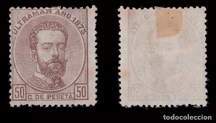 Sellos: ANTILLAS.1873 Amadeo I.50c.MNG. Edifil.26 - Foto 2 - 207378077