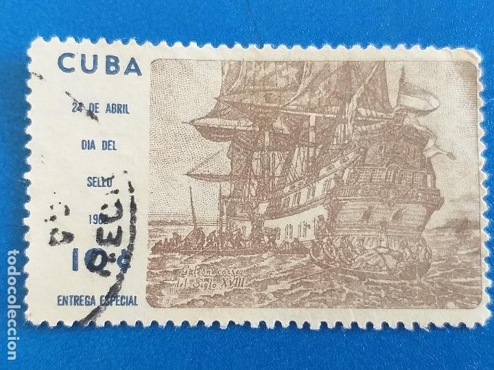 SELLO DE CUBA. AÑO 1962. N.765D. DIA DEL SELLO. USADO (Sellos - España - Colonias Españolas y Dependencias - América - Cuba)