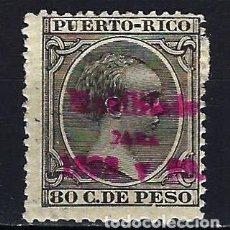 Sellos: 1898 PUERTO RICO EDIFIL 175 ALFONSO XIII HABILITADO PARA 1898 Y 1899 - MH* NUEVO CON FIJASELLOS. Lote 210112166