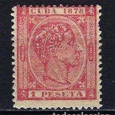 Sellos: 1878 CUBA ALFONSO XII EDIFIL 49 MH* NUEVO CON FIJASELLOS. Lote 210146918