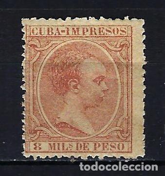 1890 CUBA ALFONSO XIII 'TIPO PELÓN' EDIFIL 111 MH* NUEVO CON FIJASELLOS (Sellos - España - Colonias Españolas y Dependencias - América - Cuba)
