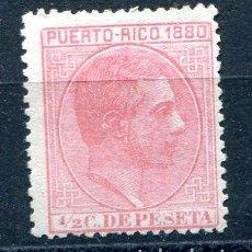 Sellos: EDIFIL 30 DE PUERTO RICO. 1/2 CT. ALFONSO XII, AÑO 1880. NUEVO SIN GOMA. Lote 210219790