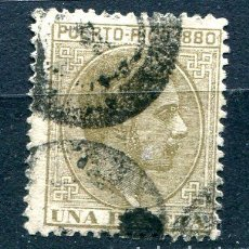 Sellos: EDIFIL 41 DE PUERTO RICO. 1 PTA. ALFONSO XII, AÑO 1880. USADO. Lote 210220180