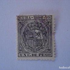 Sellos: CUBA FISCAL UN C. DE PESO 1898-1899. Lote 210374365