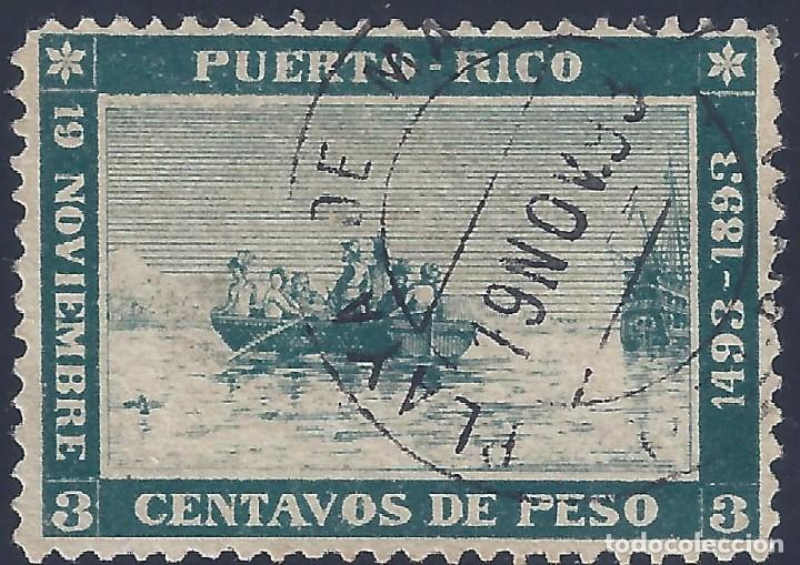PUERTO RICO. EDIFIL 101. DESEMBARCO DE COLÓN EN MAYAGËZ. MUY ESCASO. POSICIÓN 14 EN LA PLANCHA. (Sellos - España - Colonias Españolas y Dependencias - América - Puerto Rico)