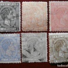 Sellos: ESPAÑA - PRIMER CENTENARIO - ANTILLAS - CUBA 1879 - ALFONSO XII - EDIFIL 50/55. Lote 211677645