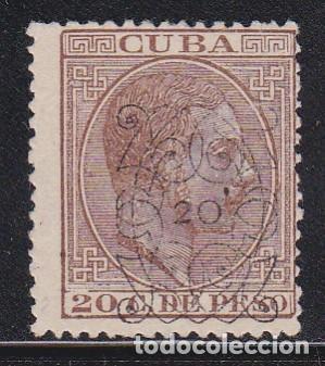CUBA 1883 - ALFONSO XIII HABILITADO SELLO NUEVO SIN GOMA EDIFIL Nº 82 (Sellos - España - Colonias Españolas y Dependencias - América - Cuba)