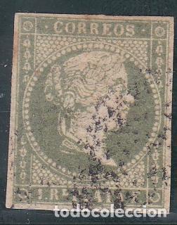 ANTILLAS .- Nº 5, ISABEL II SIN DENTAR, MATASELLADO. (Sellos - España - Colonias Españolas y Dependencias - América - Antillas)