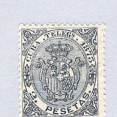 Sellos: 1873. ISABEL II. CUBA TELEGRAFOS, EDIFIL 26. 2 PESETAS AZUL. ESCASO. Lote 212532802