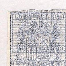 Sellos: 1875. ISABEL II. CUBA TELEGRAFOS, EDIFIL 33. 2 PESETAS ULTRAMAR. PAREJA VERTICAL SIN DENTAR, ERROR. Lote 212547456