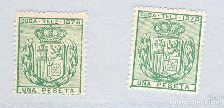 1878. ISABEL II. CUBA TELEGRAFOS, EDIFIL 43.PAREJA. (*) (Sellos - España - Colonias Españolas y Dependencias - América - Cuba)