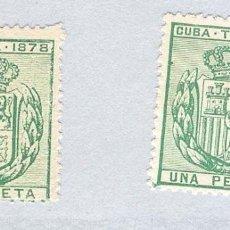 Sellos: 1878. ISABEL II. CUBA TELEGRAFOS, EDIFIL 43.PAREJA. (*). Lote 212697868