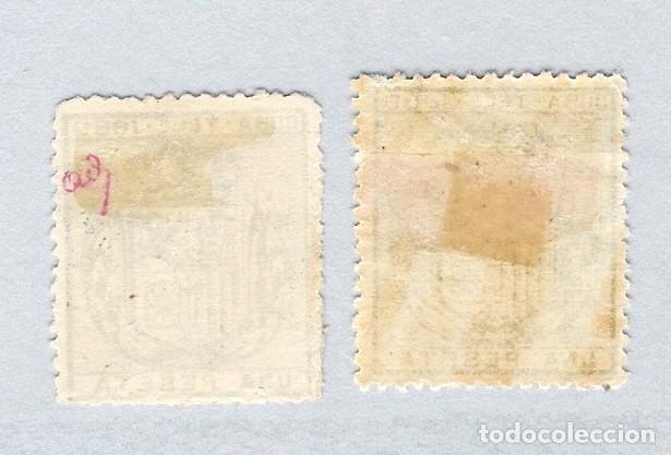 Sellos: 1880. Escudo de España . Cuba telegrafos, edifil 49. 1 peseta verde oscuro.PAREJA - Foto 2 - 212706826