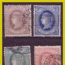 Sellos: CUBA 1866 ISABEL II, EDIFIL Nº 13 A 16 (O) COMPLETA. Lote 212795157