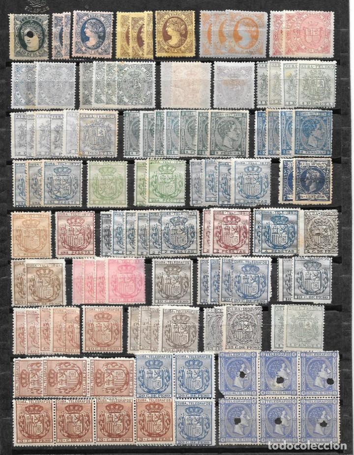 CUBA. TELEGRAFOS. LOTE VARIADO DE 114 SELLOS NUEVOS Y ALGUN BLOQUE (Sellos - España - Colonias Españolas y Dependencias - América - Cuba)