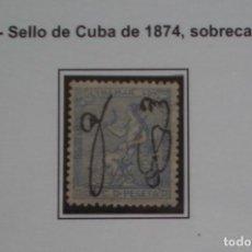 Sellos: COLONIAS ESPAÑOLAS - PUERTO RICO - EDIFIL Nº 4 BIEN CENTRADO NUEVOS * CON FIJASELLOS - 2 FOTOS. Lote 214291411