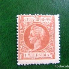 Sellos: CUBA 1898 REY ALFONSO XIII EDIFIL 154 * MH YVERT 102 * MH. Lote 214471591