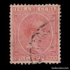 Sellos: CUBA.1891-92.ALFONSO XIII.2 ½ C .USADO.EDIFIL.126. Lote 215100248