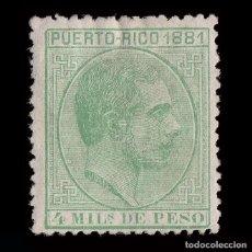 Sellos: PUERTO RICO.1881.ALFONSO XIII.4M.NUEVO* EDIFIL.45. Lote 215462808