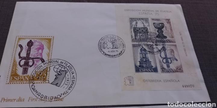 Sellos: 3 SOBRES 2 EXPOSICION MUNDIAL FILATELICA 75 PRIMER DIA Y 1 DE AMERICA Y EUROPA MURCIA 1980 - Foto 2 - 215472843