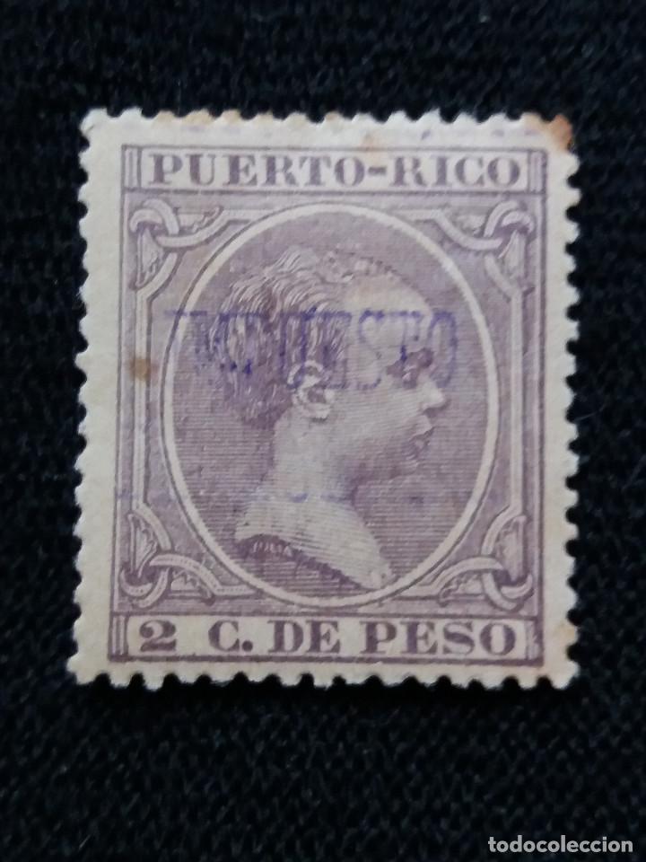 ESPAÑA, COLONIAS PUERTO RICO, 2 MIL DE PESO, 1940. SOBREESCRITO, (Sellos - España - Colonias Españolas y Dependencias - América - Puerto Rico)