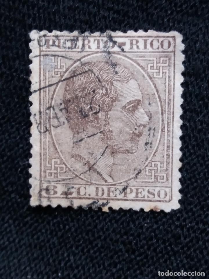 ESPAÑA, COLONIAS PUERTO RICO, 8 C DE PESO,1940. (Sellos - España - Colonias Españolas y Dependencias - América - Puerto Rico)