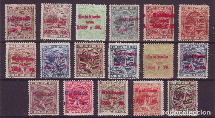 AÑO 1898.PUERTO RICO 150/66 NUEVOS. CENTRAJES DE LUJO MUY RARA (Sellos - España - Colonias Españolas y Dependencias - América - Puerto Rico)