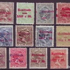 Sellos: AÑO 1898.PUERTO RICO 150/66 NUEVOS. CENTRAJES DE LUJO MUY RARA. Lote 217630560