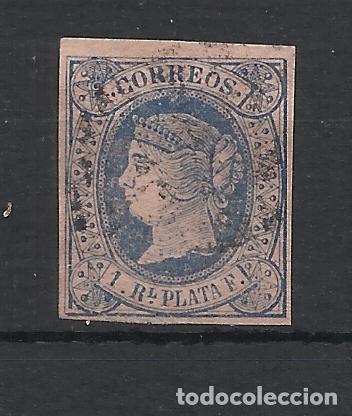 ISABEL II ANTILLAS 1864 EDIFIL 11 USADO VALOR 2018 CATALOGO 1.15 EUROS (Sellos - España - Colonias Españolas y Dependencias - América - Antillas)