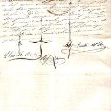 Sellos: LA HABANA (CUBA) 1856 CERTIFICADO BAUTISMO. SELLO REAL COLEGIO DE ESCRIBANOS DE LA HABANA. (RARO).. Lote 219075081