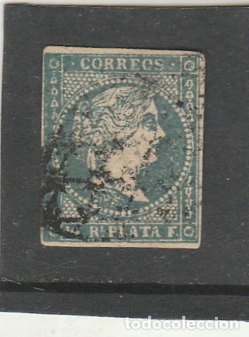 ANTILLAS 1856 - EDIFIL NRO. 4 - ISABEL II - 1/2 R. - USADO - (Sellos - España - Colonias Españolas y Dependencias - América - Antillas)