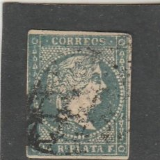 Sellos: ANTILLAS 1856 - EDIFIL NRO. 4 - ISABEL II - 1/2 R. - USADO -. Lote 219308531