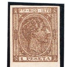 Sellos: 1878 PUERTO RICO EDIFIL 22 SIN DENTAR NUEVO. Lote 220238020