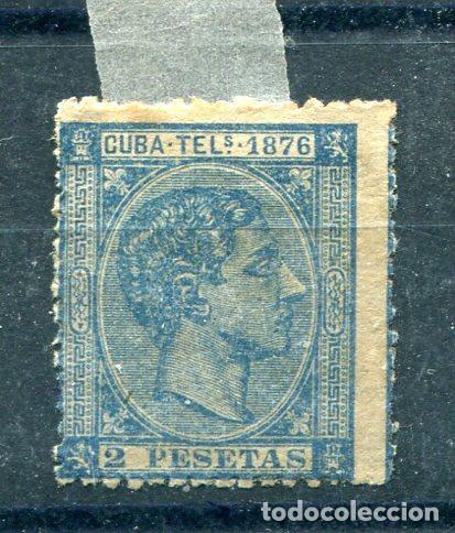 EDIFIL 36 DE TELÉGRAFOS DE CUBA. AÑO 1876. NUEVO SIN GOMA Y ALGO DE ÓXIDO (Sellos - España - Colonias Españolas y Dependencias - América - Cuba)