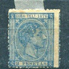 Sellos: EDIFIL 36 DE TELÉGRAFOS DE CUBA. AÑO 1876. NUEVO SIN GOMA Y ALGO DE ÓXIDO. Lote 221492940