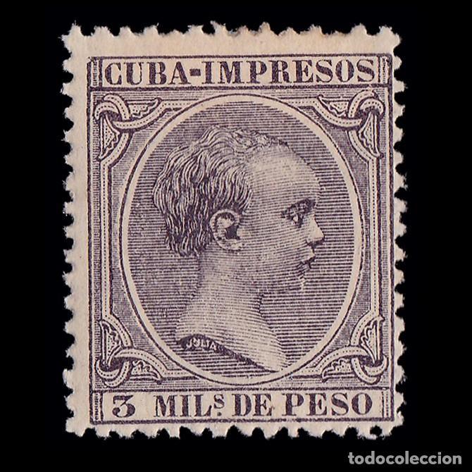 CUBA.1891-92. ALFONSO XIII.3 M.MH. EDIFIL.121 (Sellos - España - Colonias Españolas y Dependencias - América - Cuba)