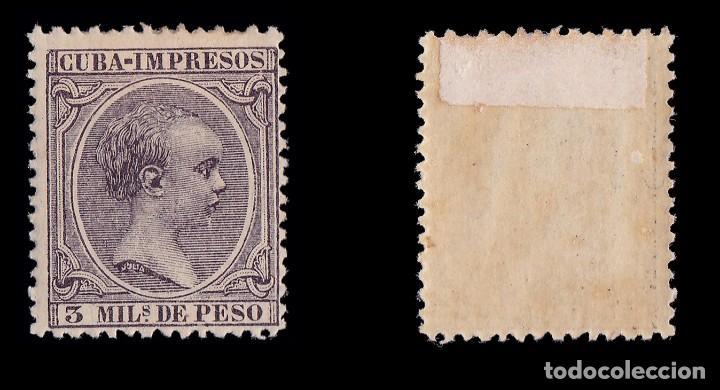 Sellos: CUBA.1891-92. Alfonso XIII.3 m.MH. Edifil.121 - Foto 2 - 221984132