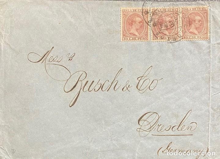 ESPAÑA (CUBA), CARTA CIRCULADA EN EL AÑO 1895 (Sellos - España - Colonias Españolas y Dependencias - América - Cuba)
