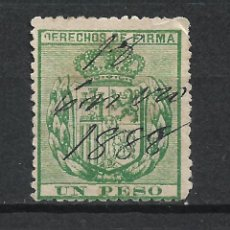 Sellos: ESPAÑA FILIPINAS 1888 DERECHOS DE FIRMA - 17/37. Lote 222125797