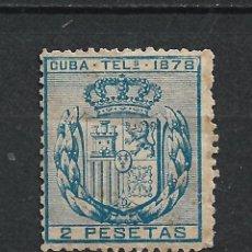 Sellos: ESPAÑA 1CUBA TELEGRAFOS 1878 EDIFIL 44 * MH - 17/37. Lote 222126901