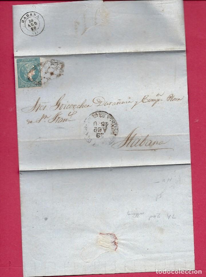 CUBA.CARTA AÑO 1860 (Sellos - España - Colonias Españolas y Dependencias - América - Cuba)