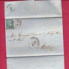 Sellos: CUBA.CARTA AÑO 1860. Lote 222135988